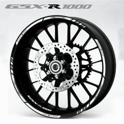 Suzuki gsxr 1000 white k9 wheel rim stripes decals