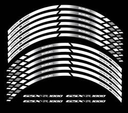 Suzuki gsxr 1000 white wheel stripes decal kit