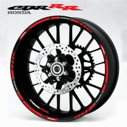 Honda cbr fireblade red wheel stripes sticker set