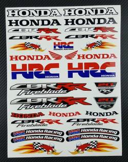 Honda cbr fireblade woody woodpecker hrc stickers logo kit