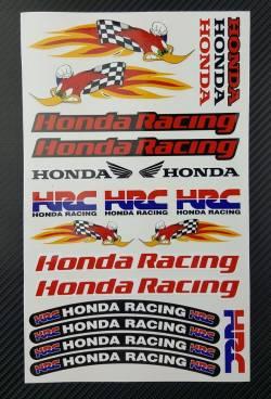 Honda cbr 600rr woody woodpecker hrc stickers logo set