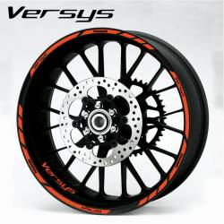 Kawasaki versys 650 1000 orange wheel rim stripes lines