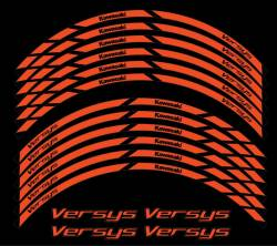 Kawasaki Versys 650 1000 2009 orange wheel stripes stickers