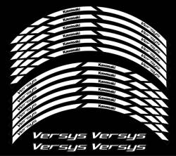 kawasaki versys white wheel stripes decal set