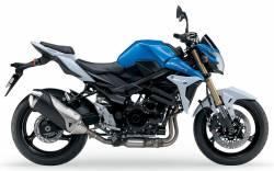 Suzuki GSR 750 2013 blue adhesives set