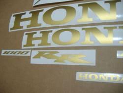 Honda CBR 1000RR 2006 Fireblade gold stickers