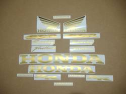 Honda 1000RR 2004 SC57 gold stickers set
