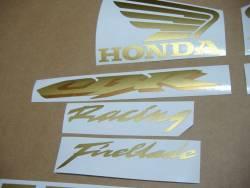 Honda CBR 1000RR 2004 cutom gold decals kit