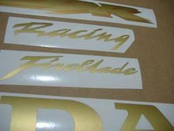 Honda 1000RR 2006 SC57 gold full decals kit