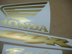 Honda CBR 1000RR 2005 cutom gold stickers kit