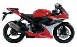 Suzuki GSXR 600 L3 red full decals kit