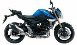 Suzuki GSR 750 L2 blue decals kit