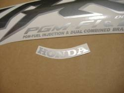 Honda VFR 800i 1999 black EU adhesives set