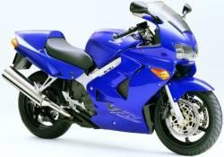 Honda 800i 1999 Interceptor blue full decals kit