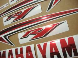 Yamaha R1 2011 14b red full decals kit
