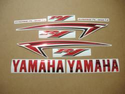 Yamaha YZF-R1 2012 14b red logo graphics