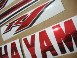 Yamaha R1 2009 RN22 14b red decals kit