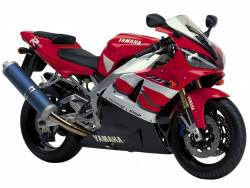 Yamaha R1 2000 RN05 red labels graphics