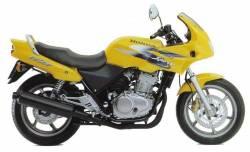 Honda CB 500S 1998 yellow stickers set