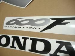 Honda 600 F4 2000 yellow stickers set