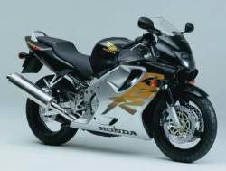Honda CBR 600 F4 1999 black decals kit