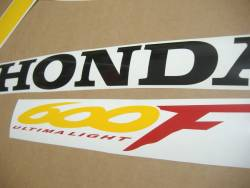 Honda CBR 600 F4 1999 black decals kit
