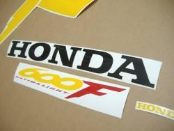 Honda CBR 600 F4 1999 black stickers kit