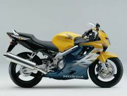 Honda 600 F4 2000 yellow full decals kit