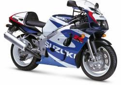 Suzuki GSX-R 600 2000 white adhesives set