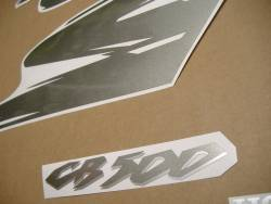 Honda CB500S 1999 black adhesives set