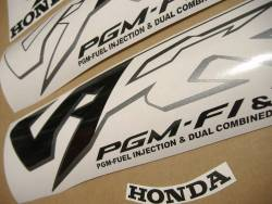 Honda VFR 800i 1998 silver stickers kit