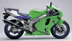 Kawasaki ZX7R 1997 Ninja green decals kit