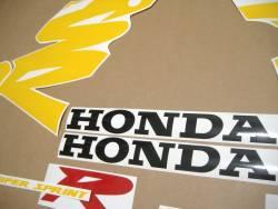 Honda 125R 1999 black restoration decals