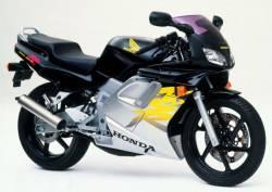 Honda NSR 125R 1999 black stickers kit