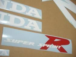 Honda 125R 1999 blue full decals kit