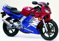 Honda NSR 125R 1999 blue decals kit