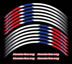 Honda cbr 600rr 954rr 1000rr hrc wheel rim stripes stickers kit