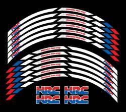 Honda cbr 600rr F3 F4 racing hrc wheel rim stripes stickers kit