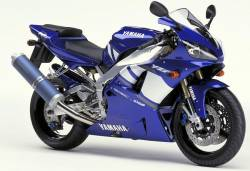 Yamaha R1 2001 RN05 5pw blue stickers
