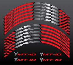 Yamaha Mt-10 red wheel rim stripes stickers kit set
