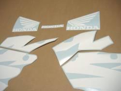 Honda NSR 125r 2000 white blue decals set