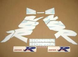 Honda 125R 2000 white complete sticker kit