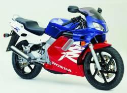 Honda NSR 125R 2000 white decals kit