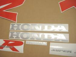 Honda NSR 125R 2000 black decals kit