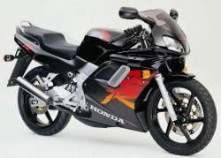 Honda 125R 2000 black logo graphics