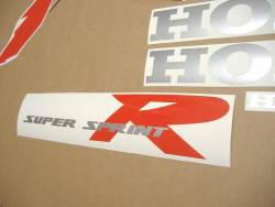 Honda NSR 125 2000 black stickers kit