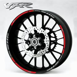 Honda VFR 800i rc36 rc46 red wheel rim stripes lines stickers kit