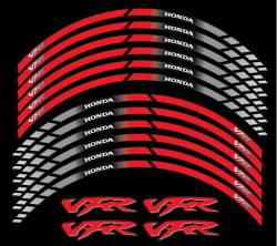 Honda VFR 800i Interceptor rc36 rc46 red wheel rim stripes decals set