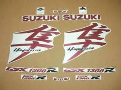 Suzuki Hayabusa burgundy red 2008 k8 k9 graphics kit