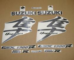 Suzuki busa 1340 carbon fiber look full logo labels set